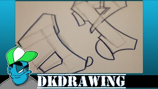 Graffiti Tutorial for beginners - How to draw cool letters O & P