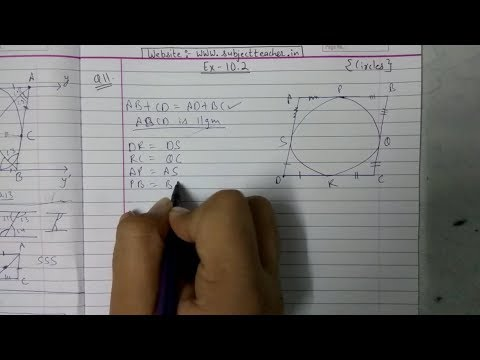 Chapter 10 Exercise 10.2 (Q10, Q11) CIRCLES || NCERT || Maths class 10
