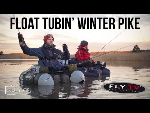FLY TV - Float Tubin' Winter Pike - Cold Water Pike Fly Fishing