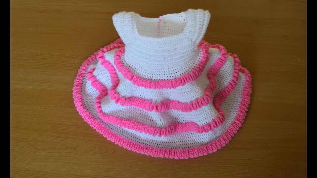 Princess Crochet Baby Dress Part 1 Youtube