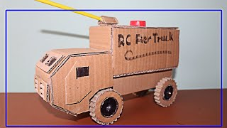 How To Make Fire Truck With Cardboard,7days kh