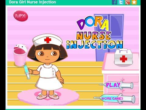 Dora The Explorer Online Games - Dora Medic Injection Game