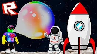 FLEW INTO SPACE IN A GIANT BUBBLE! Simulator chewing GUM to Get