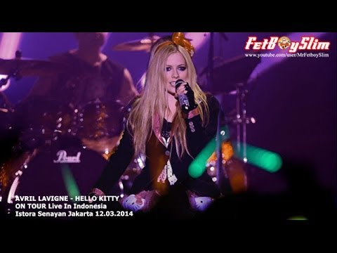 AVRIL LAVIGNE - HELLO KITTY ( Opening ) Live In Jakarta, Indonesia 2014