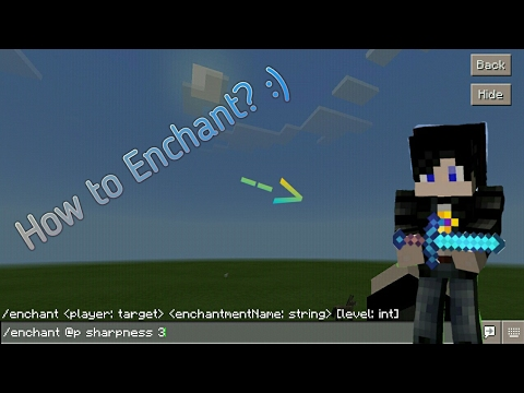 How To Enchant Any Tool Or Weapon On MCPE(0.15.90 Version and Up Only)