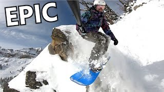 Snowboard - Epic Day Snowboarding - Travis Rice & Corbet's Couloir