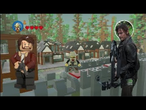 Lego Worlds Let's Build The Walking Dead Alexandria