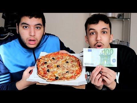 SI IL FINI CETTE PIZZA EN 4 MINUTES IL GAGNE 100 EUROS !