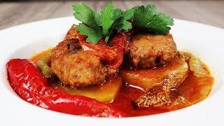 Fırında Patatesli Köfte Tarifi - Yemek Tarifleri | Köfteler