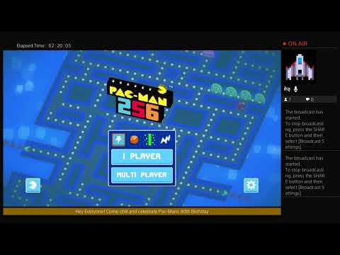 Happy 40th Birthday Pac-Man.  Pac-Man 256 PS4 Celebration