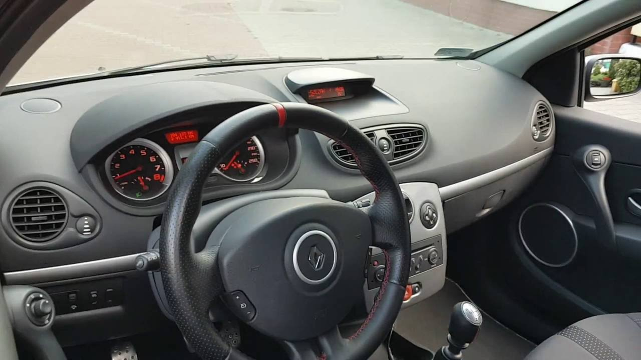 renault clio rs 3 iii 2007 gray exterior and interior walkaround youtube. Black Bedroom Furniture Sets. Home Design Ideas