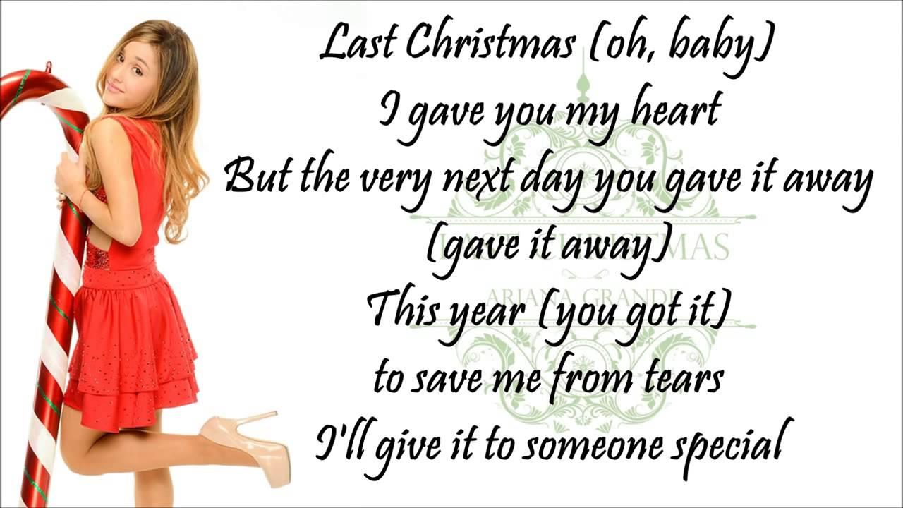 Ariana Grande- Last Christmas (Lyrics) - YouTube
