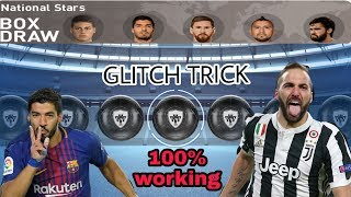 100% Black Ball Trick in Nationals Stars Box Draw || PES 2019 MOBILE ||