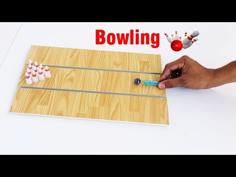 How To Make a Mini Bowling Game |  actually work | Crafts for kids