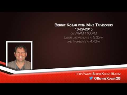 Bernie Kosar with Mike Trivisonno on WTAM 10-29-2015