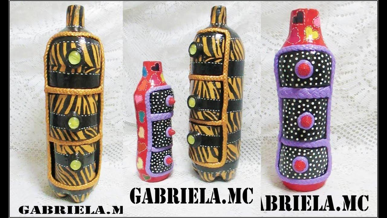 Alhajero de botella de plastico hecho con materiales - Botellas de plastico decoradas ...