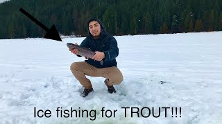 Trillium Lake Ice Fishing Winter Trout Fishing Oregon Fishing