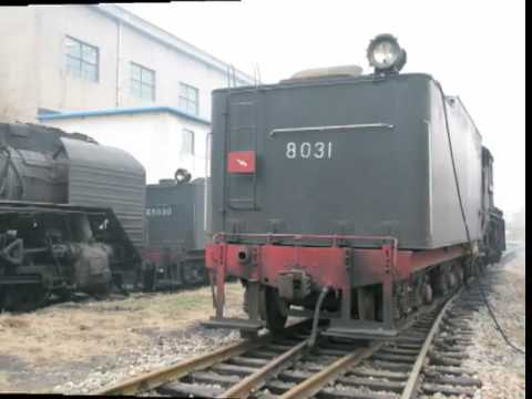 The photo of 2-8-2 Chinese Steam Locomotive JS (JianShe) 8031 in PingDingShan