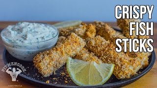 Healthy Comfort Food Crispy Fish Sticks / Palitos de Pescado Crujientes