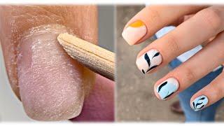 ЛАЙФХАК для прилипшей кутикулы Весенний дизайн ногтей Чистый маникюр