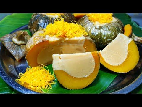 กับข้าวกับปลาโอ 652 : สังขยาฟักทอง นึ่งแล้วไม่แตก สังขยาเนื้อเนียนๆ Pumkin Thai custard