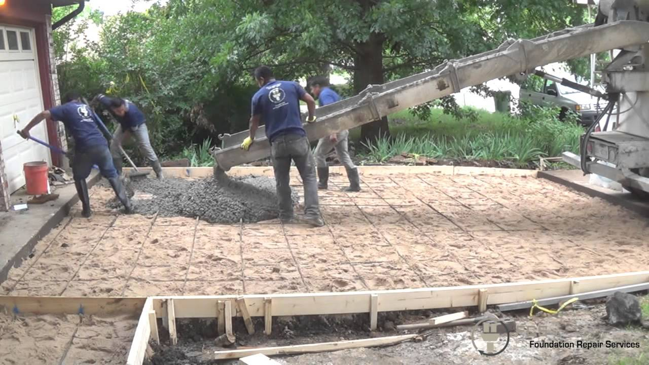 Pouring Of A Concrete Driveway In Arlington Tx