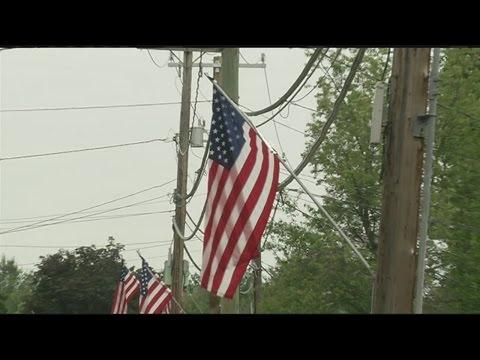 Flags flying across western Massachusetts for Memorial Day