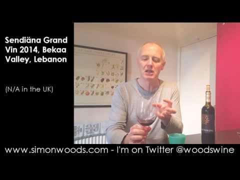 Wine Tasting with Simon Woods: Sendiäna Grand Vin 2014, Bekaa Valley, Lebanon