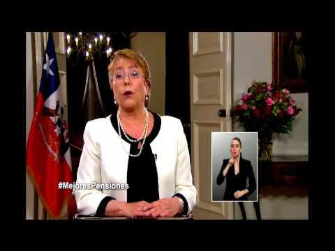 Presidenta Michelle Bachelet anuncia cambios al sistema de pensiones