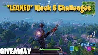 *LEAKED* Fortnite Season 7 Week 6 Challenges | Giveaway | Fortnite Battle Royale