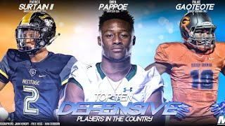 Zack Poff takes a look at MaxPreps' top 10 defensive players in hig...
