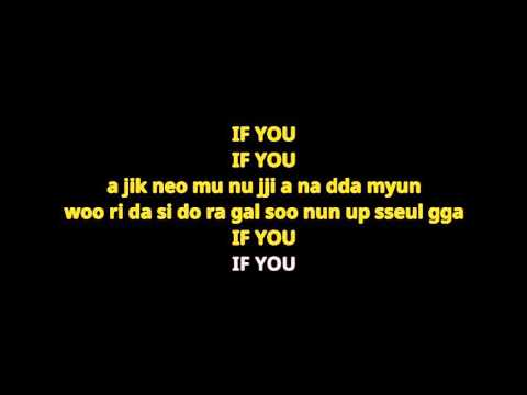 "BIG BANG(빅뱅) - ""IF YOU"" Lyrics karaoke ver. Hangul pronunciation"