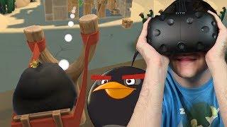 WYBUCHAJĄCE PTAKI - Angry Birds VR: Isle of Pigs #2 (HTC VIVE VR)