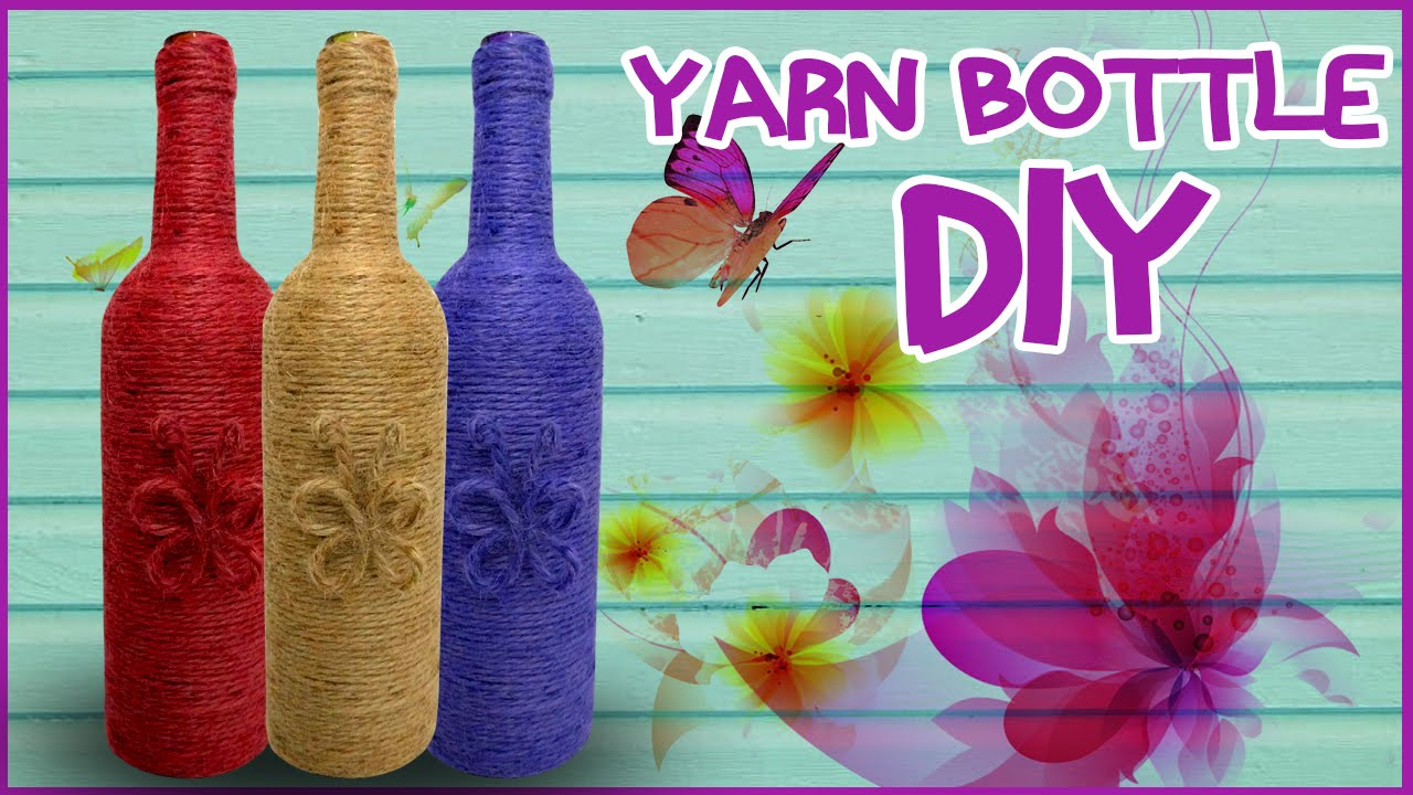 How To Make Yarn Wrapped Bottle Easy Diy Tutorial Cool Kids