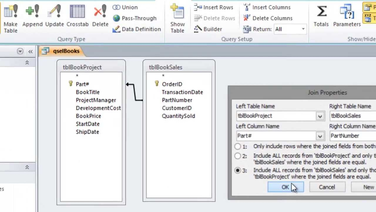 Linking Tables in Microsoft Access Queries