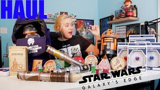 Star Wars Galaxy's Edge Haul *I GOT THE BLACK KYBER CRYSTAL!!!*