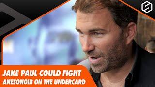 Eddie Hearn hints AnEsonGib could fight Jake Paul on KSI vs Logan Paul 2 Undercard