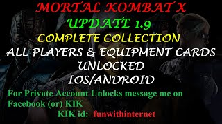 Video MKX UPDATE 1.9 ALL PLAYERS & EQUIPMENT CARDS  COMPLETE COLLECTION (IOS/ANDROID) download MP3, 3GP, MP4, WEBM, AVI, FLV Juli 2018