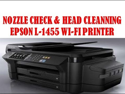 Nozzles Check Epson L-1455 Printer !! Head Cleaning Epson L -1455 Printer