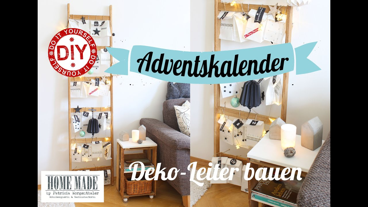 how to i weihnachtsdeko i adventskalender i leiter bauen i. Black Bedroom Furniture Sets. Home Design Ideas