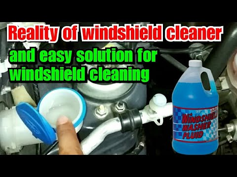 Reality of windshield cleaner or washer and easy solution for your car windshield cleaning