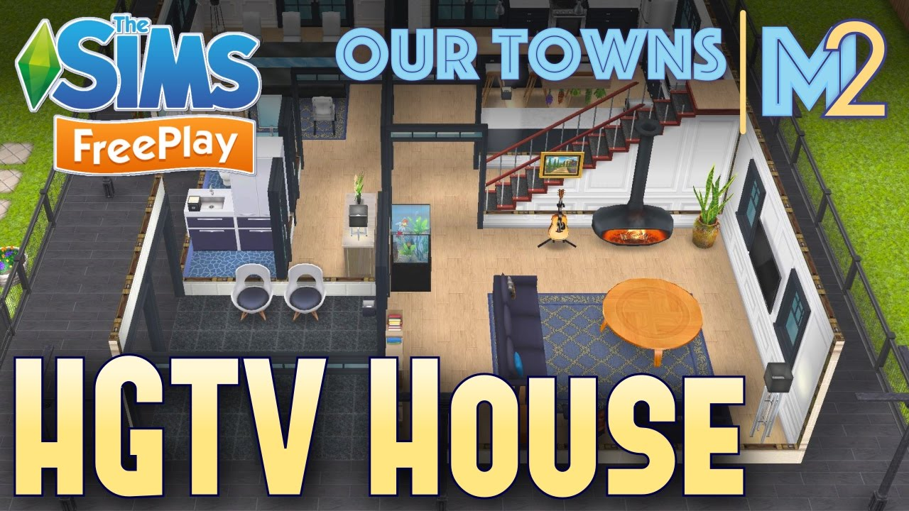 Sims FreePlay - HGTV House (Original Design) on property brothers house design, living small house design, dream home house design,