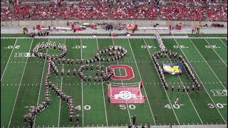 """Ohio State Marching Band Halftime Show vs Maryland [Full HD] """"The Man in the Ring"""" 10-7-17"""