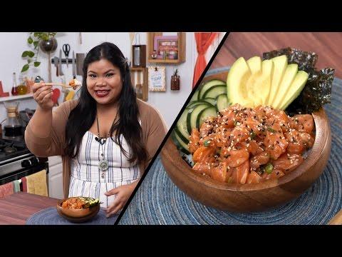Salmon Poke Bowl | Jen Phanomrat