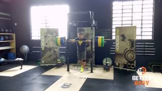 Dmitry Klokov push press with 200KG
