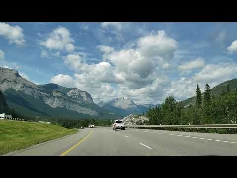 CALGARY TO BANFF  TRANS CANADA HIGHWAY PART 1