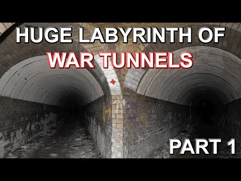 HUGE LABYRINTH OF WAR TUNNELS - Shorts Brother Underground WW2 Shadow Factory - Part 1