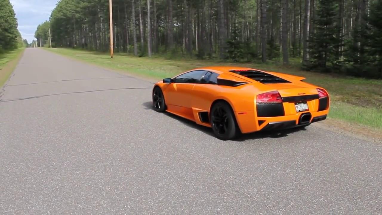 Lamborghini Murcielago Lp640 Fly By And Burnout Youtube