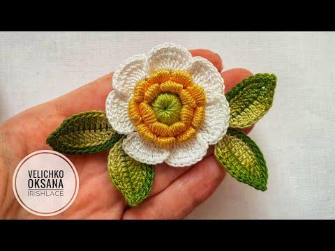 Видеоурок ирландского кружева цветы и листики
