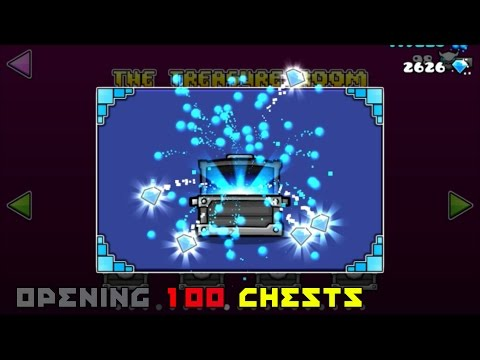 Opening 100 Chests & The 200 Chest Bonus! [Geometry Dash 2.1]